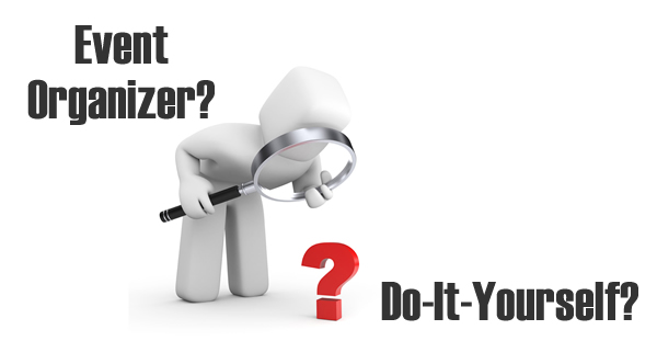 Choose for event organizer or do-it-yourself